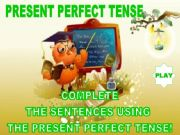 English powerpoint: PRESENT PERFECT TENSE - GAME