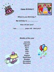 English powerpoint: Happy Birthday!