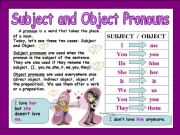 English powerpoint: Subject and Object Pronouns (Grammar + Text + Activities)
