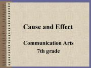 English powerpoint: Cause and Effect Power Point