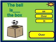 English powerpoint: game prepositions where is the ball