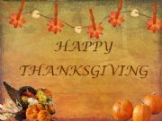 English powerpoint: HAPPY THANKSGIVING
