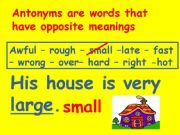 English powerpoint: Antonyms
