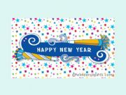 English powerpoint: New Year´s Eve - Happy New Year (editable)