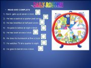 English powerpoint: Daily routine