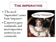 English powerpoint: The imperative