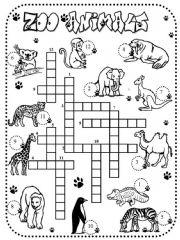 English powerpoint: crossword zoo animals