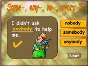 English powerpoint: Somebody - Anybody - Everybody - Nobody (part 3)
