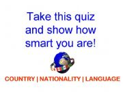 English powerpoint: Country   Nationality   Language Quiz
