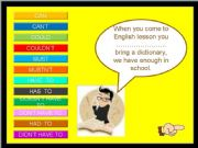 English powerpoint: Can, Must, Have to II