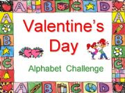 English powerpoint: Valentine´s Day Alphabet Challenge