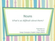English powerpoint: Count and Non-count Nouns