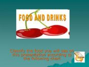 English powerpoint: Classify food and drinks according to their category (1/2)
