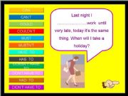 English powerpoint: CAN, MUST, HAVE TO I