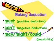 English powerpoint: Making deduction