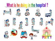 English powerpoint: What is he doing in the hospital? part1 - Game