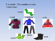 English powerpoint: Clothes and seasons.