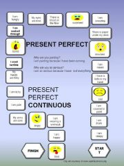English powerpoint: Present Perfect - Present Perfect Continuous - a boardgame