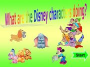 English powerpoint: What are the Disney Characters doing? Present Continuous + SOUND