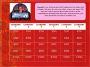 English powerpoint: JEOPARDY! GAME TEMPLATE
