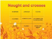 English powerpoint: NOUGHTS AND CROSSES game  VERSION 1 (fully editable !  !!! )