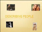 English powerpoint: Describing people