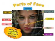 English powerpoint: Parts of Face