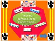 English powerpoint: To infinitive or ing form