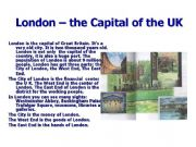 English powerpoint: Welcome to London