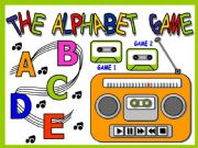 English powerpoint: THE ALPHABET GAME (WITH SOUNDS)