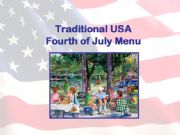 English powerpoint: USA Fourth of July Menu