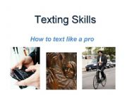English powerpoint: Texting Skills