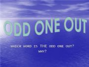 English powerpoint: ODD ONE OUT: FOOD