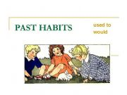 English powerpoint: used to / would