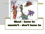 English powerpoint: Must / Have to / Mustn´t/Don´t have to
