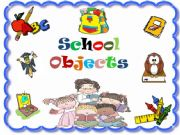 English powerpoint: School Objects ( Game /  41 Slide )