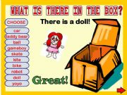 English powerpoint: WHAT IS THERE IN THE BOX? GAME