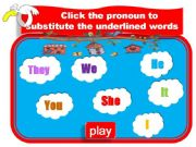 English powerpoint: Game - Personal Pronouns