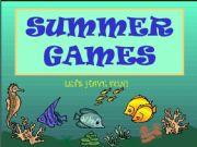 English powerpoint: SUMMER GAMES - fun stuff before summer vacation