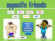 English powerpoint: Game- Opposite Friends