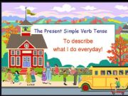 English powerpoint: Present Simple Verb Tense, Third Person Singular and Daily Routines