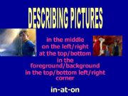 English powerpoint: Describing pictures with the Polar Express ON-IN-AT /updated/