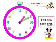 English powerpoint: What time is it? (Part 2 - 11 animated slides)