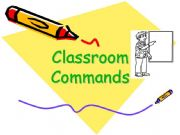 English powerpoint: CLASSROOM COMMAND