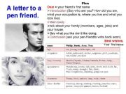 English powerpoint: A Letter to a pen friend
