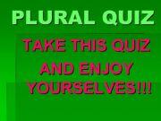 English powerpoint: Plural Quiz