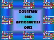 English powerpoint: Countries and Nationalities Quiz