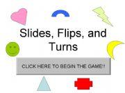 esl english powerpoints slides flips and turns game. Black Bedroom Furniture Sets. Home Design Ideas