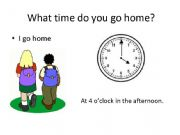 English powerpoint: Telling Time and Daily Activities (Part II)