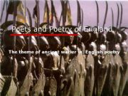English powerpoint:  English Poets and Poetry